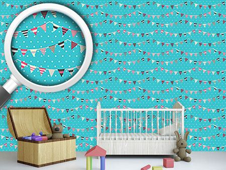 Design Wallpaper Garlands On Polkadots