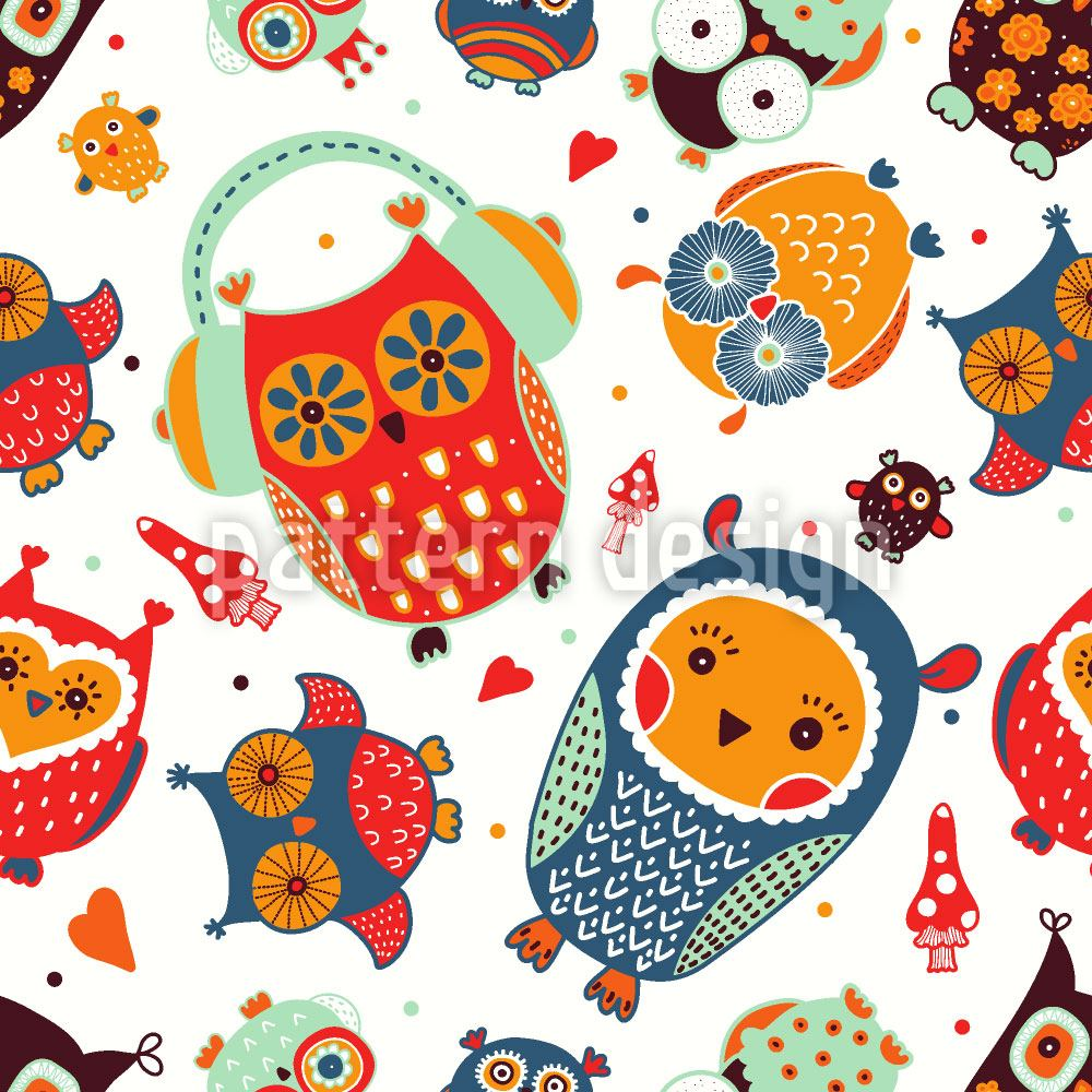 Papier peint design The Sweetest Owls