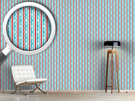 Papel tapiz de diseño Dewdrop On Stripe