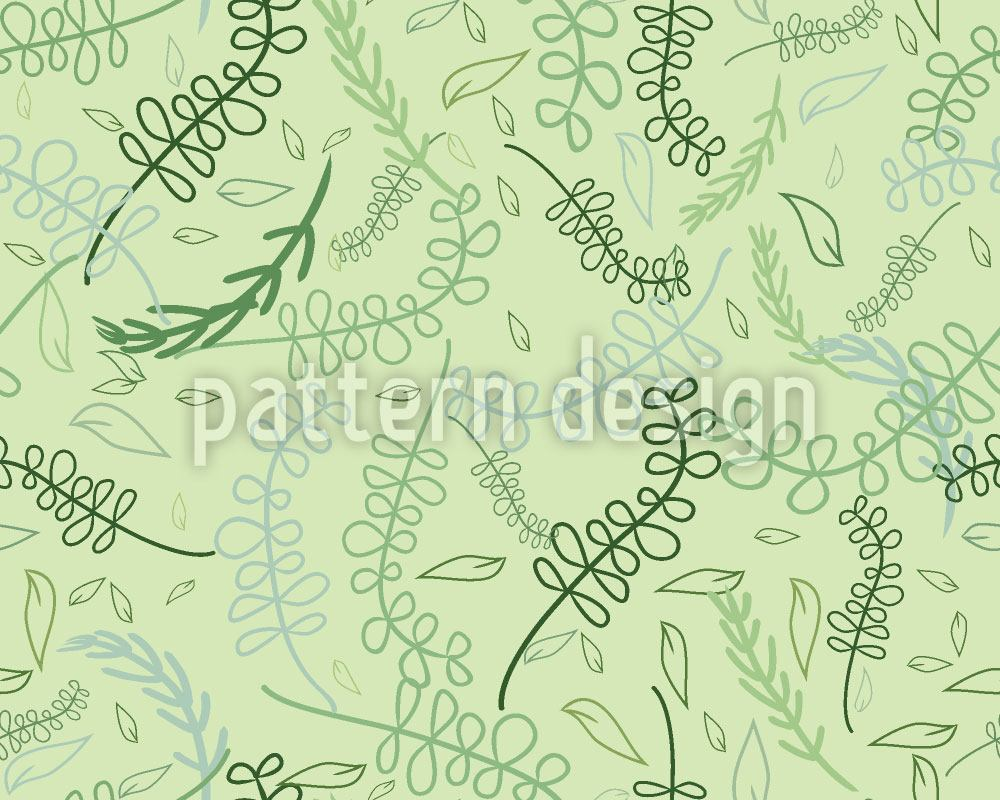 Papier peint design Swirling Leaves In The Spring