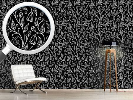Design Wallpaper Floral Engraving