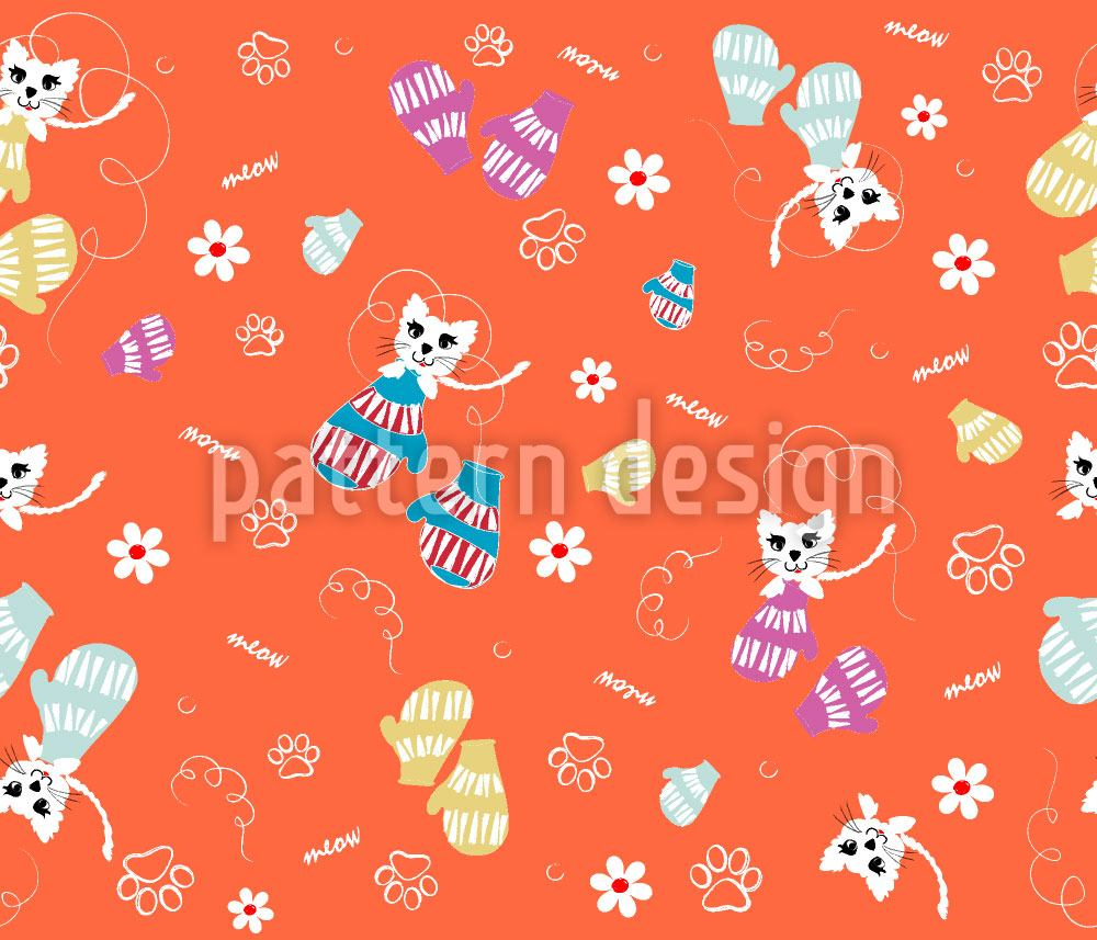 Papier peint design Kittens In Mittens