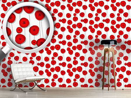 Design Wallpaper Poppy Flowers On Wire
