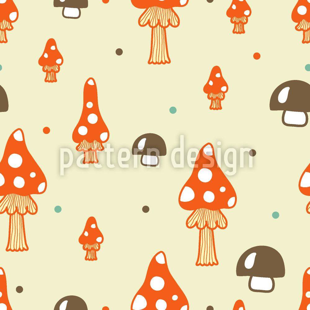 Design Wallpaper The Mushrooms In The Woods