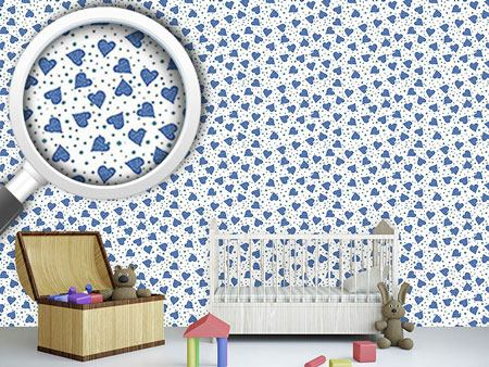 Design Wallpaper Dotted Hearts