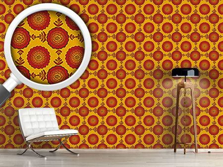 Design Wallpaper Marigold Floral