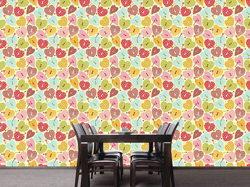 Design Wallpaper Heart Castles