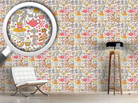Design Wallpaper Funny Tea Party In Wonderland