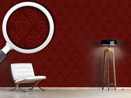 Design Wallpaper Red French Baroque