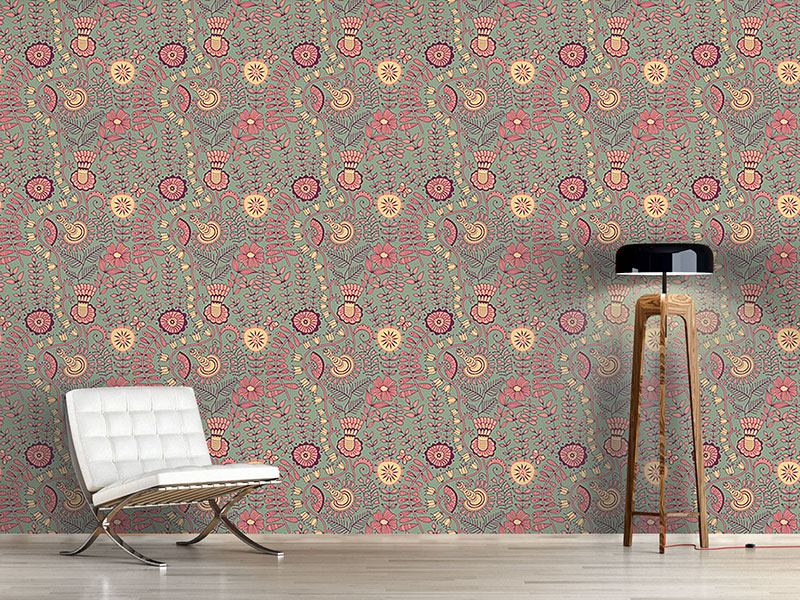Design Wallpaper Secrets In The Vintage Garden