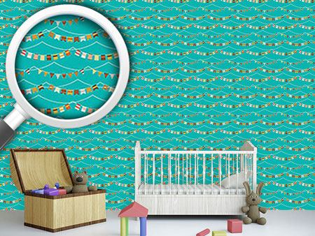 Design Wallpaper Garlands And Waves