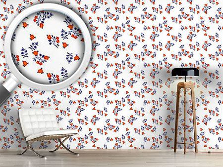 Papier peint design Mille Fleurs On White