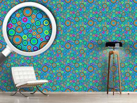 Papier peint design Summer Fun Of Circles
