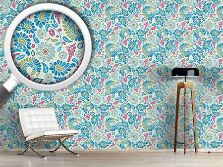 Design Wallpaper Fantasy Flowers With Patina