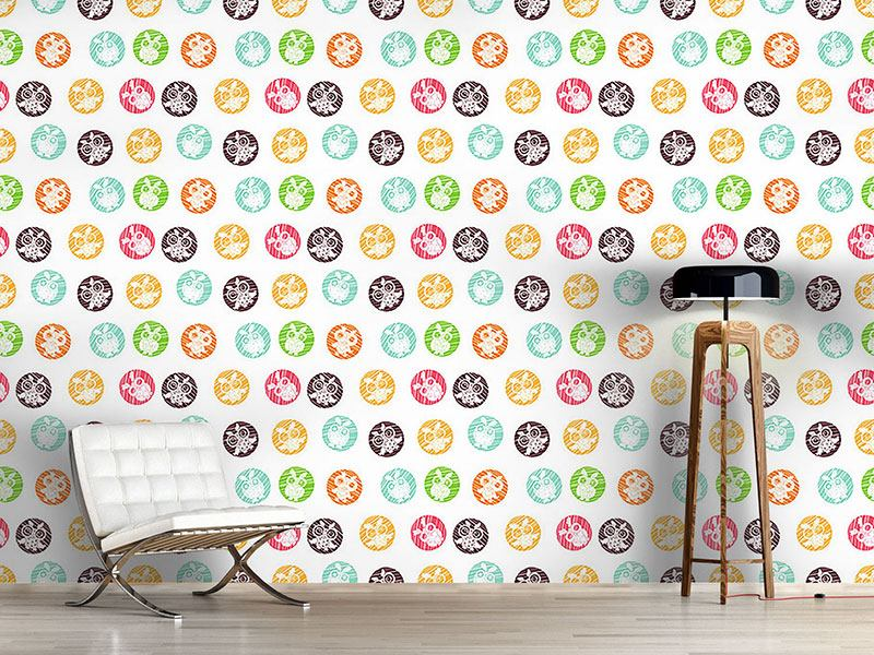 Design Wallpaper Owls Vignettes