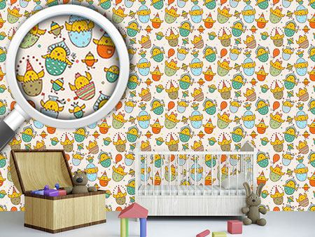 Design Wallpaper Russian Easter Chicks