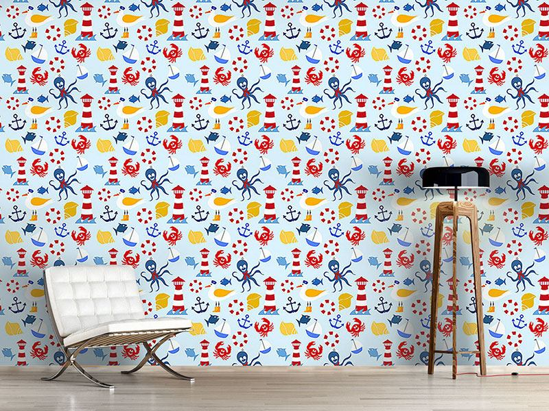 Papier peint design Nautical Sea