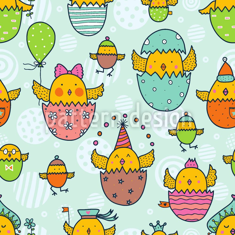Papier peint design The Russian Easter Chick Hatch
