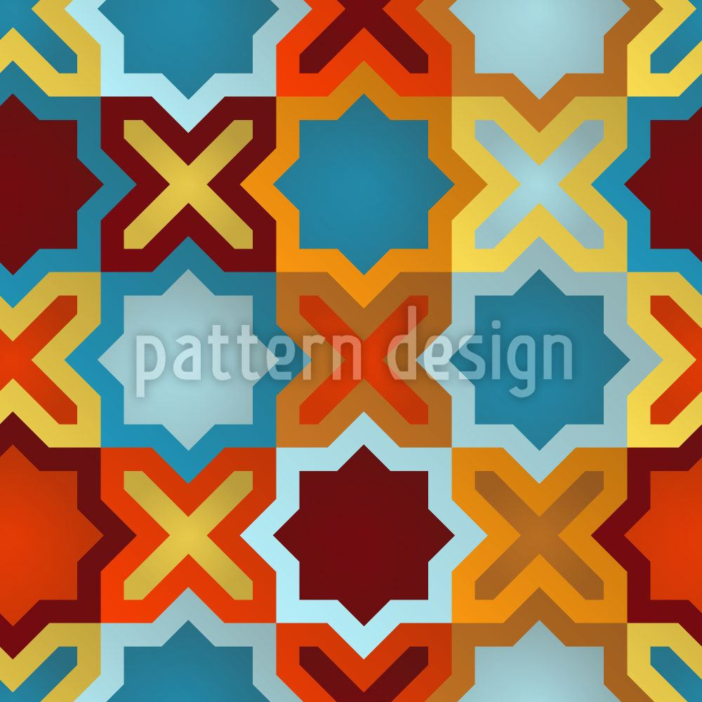 Papier peint design Stars Of The Orient
