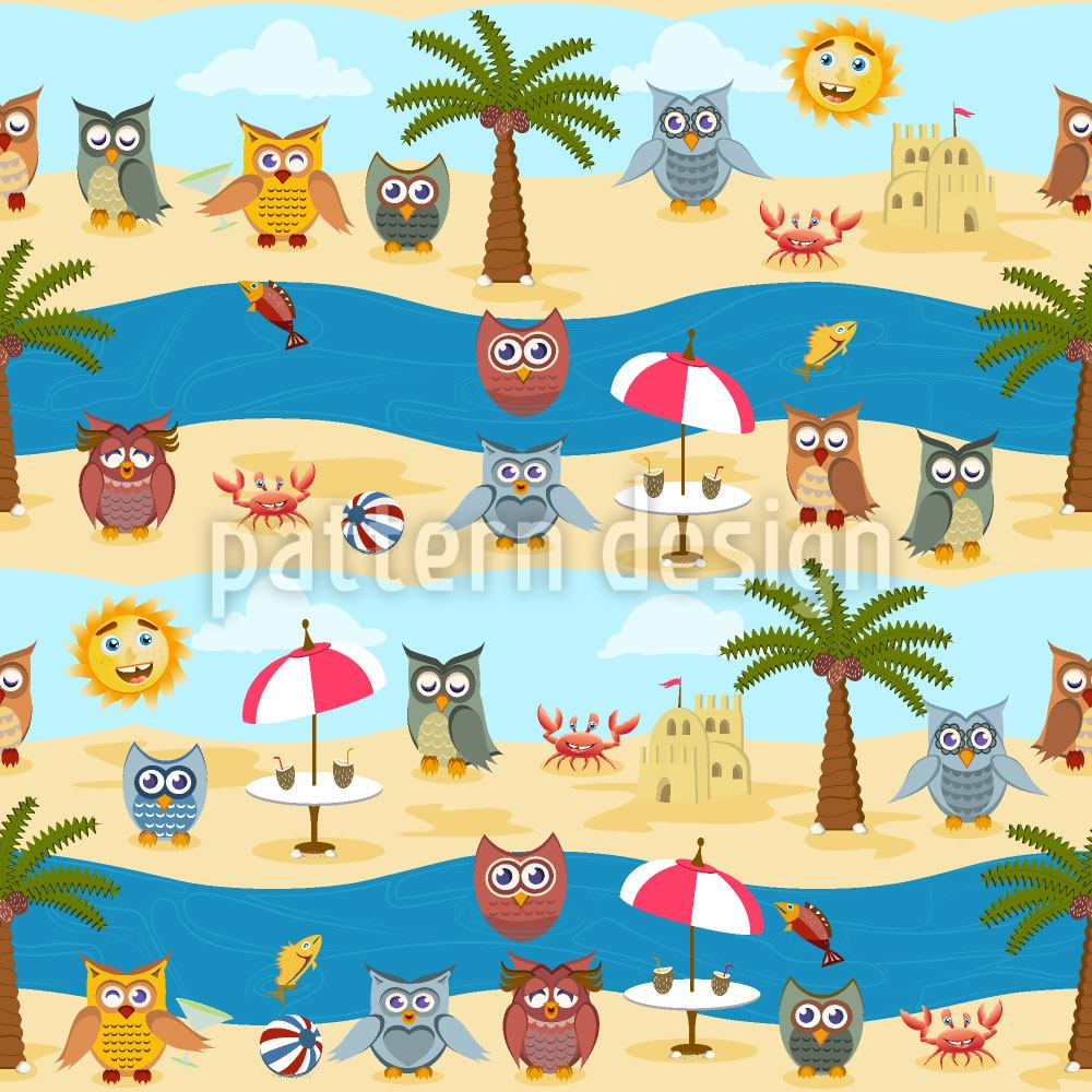 Carta da parati Owls By The Sea