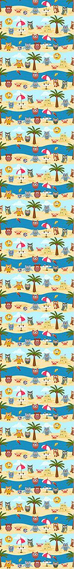 Papel tapiz de diseño Owls By The Sea
