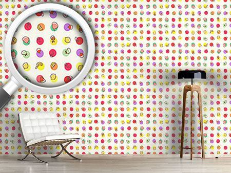 Design Wallpaper Tutti Frutti Polkadot