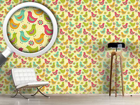 Design Wallpaper The Happy Chicken