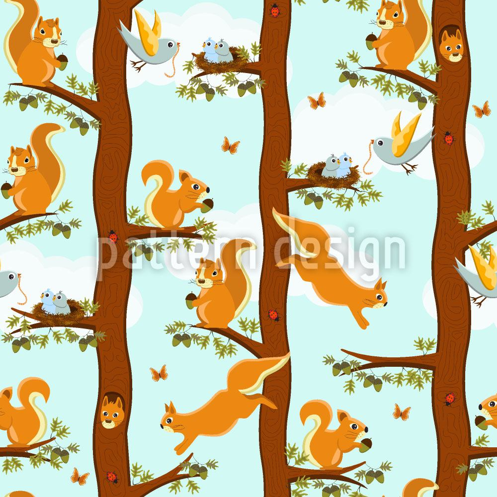 Papel tapiz de diseño Squirrel Party