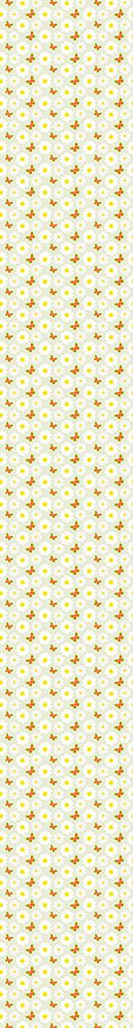 Design Wallpaper Butterflies Dance With Daisies