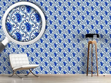 Design Wallpaper Paisley Porcelain