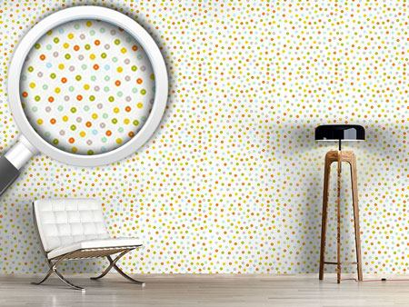 Design Wallpaper Dots In The Spring