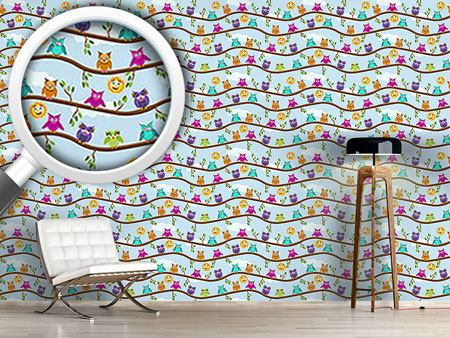 Design Wallpaper Owls On A Sunny Day