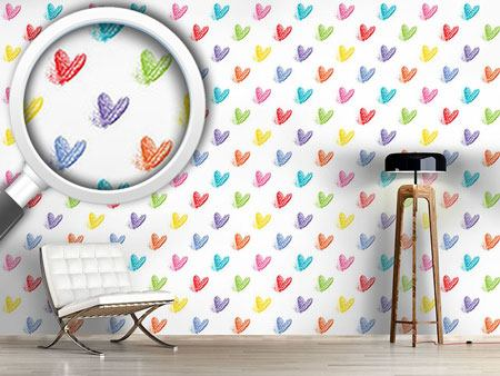 Design Wallpaper Fading Hearts