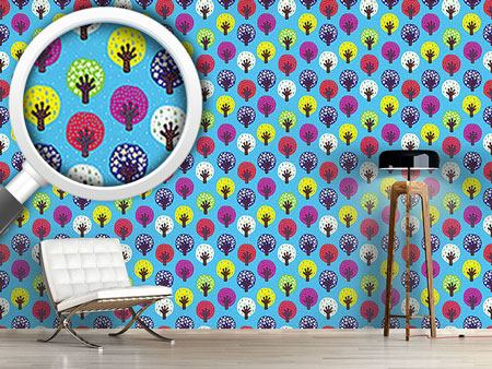 Design Wallpaper In The Patchwork Forest
