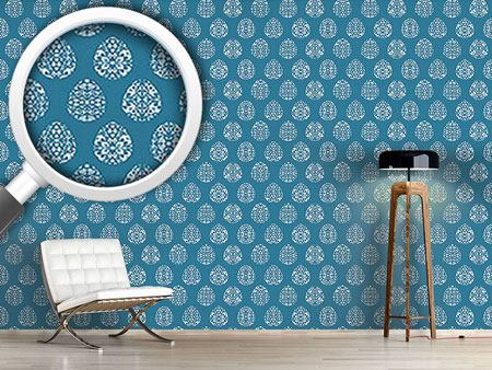Design Wallpaper Easter Eggs Filigree