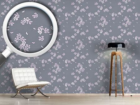Design Wallpaper Cherry Blossoms In The Wind
