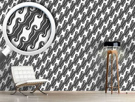 Design Wallpaper Chocolate Icing In Diagonal Waves