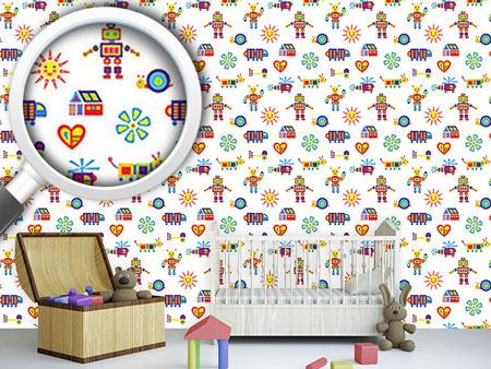 Papel tapiz de diseño Colorful Tack Zap