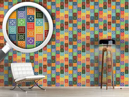 Design Wallpaper Doily Patchwork