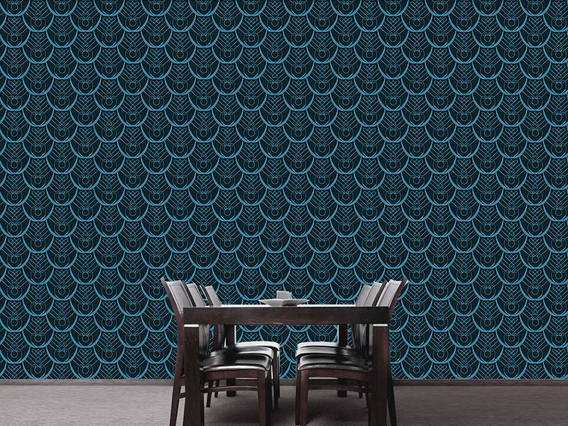 Design Wallpaper Peacock Feathers Deco