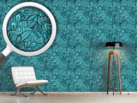 Design Wallpaper Fantasy Flowers underwater