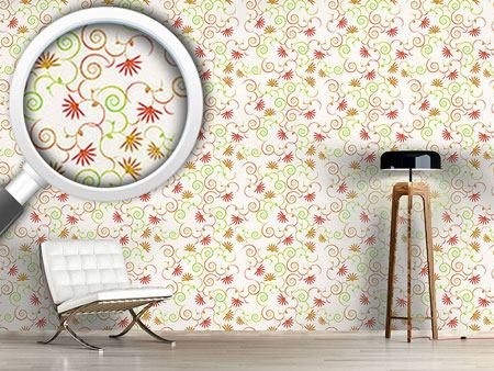 Design Wallpaper Magical curls flowers