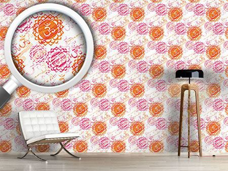 Design Wallpaper Om Colorful