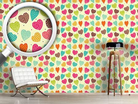 Design Wallpaper Vintage Heart