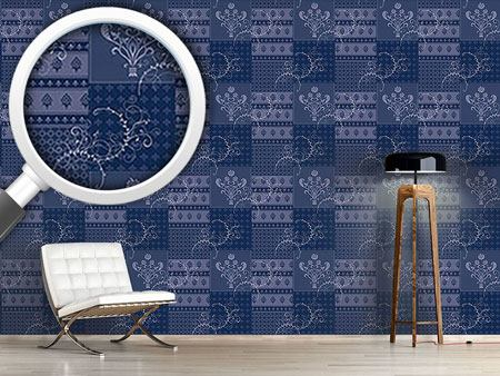 Design Wallpaper Symphony Floral Blue