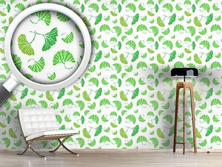 Design Wallpaper Ginkgo Leaves