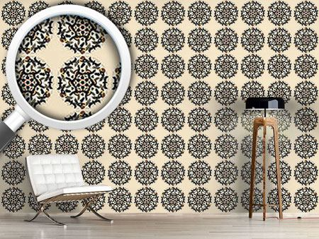 Design Wallpaper Small Flower Mandalas