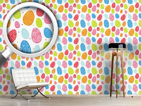 Design Wallpaper Eggs Dressed Up To Party