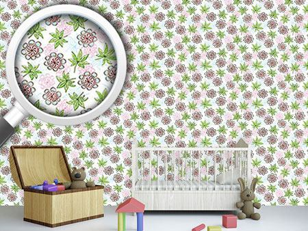 Design Wallpaper Flowers And Leaflets
