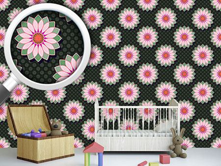 Design Wallpaper Lotus Polkadot